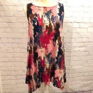 Fantastic Fawn sleeveless asymmetrical dress/tunic